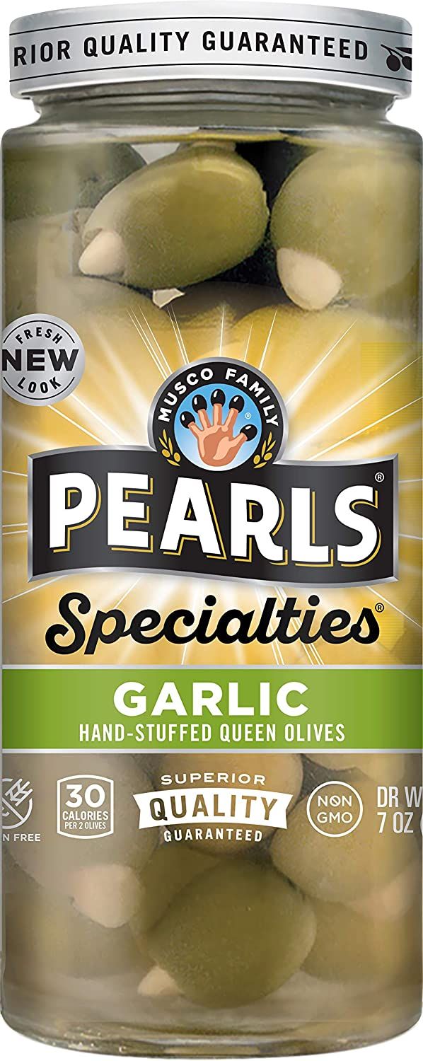 In Max 55% OFF stock Pearls Specialties Garlic Stuffed Queen Ounce Olives Pack 7