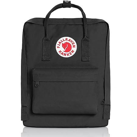 Fjällräven Kånken 23510-550 Unisex Waterproof Outdoor Hiking Backpack 38 x 27 x 13 cm, 16 Liter Black
