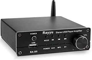 Rayyu Professional Mini Hi-Fi Digital MP3 Amplifier Mobile App Control 2x160W Bluetooth 5.0 Power Amplifier Home Theater S...