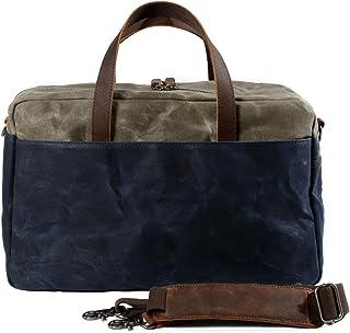 Muchuan 6117 Reisetasche mit großem Fassungsvermögen, Segeltuch Blau dunkelblau L