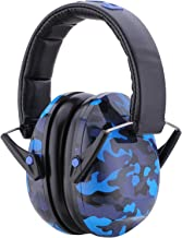 Snug Kids Earmuffs/Best Hearing Protectors – Adjustable Headband Ear Defenders for Children and Adults (Blue Camo)