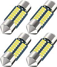 DE3175 Led Car Bulb 31mm 1.22in Led Festoon Bulb, DE3021 DE3022 DE3023 6428 6430 7065 Led Festoon Bulb, 6000k White Super Bright Interior Led Used for Car Map Dome Light etc,Pack of 4pcs