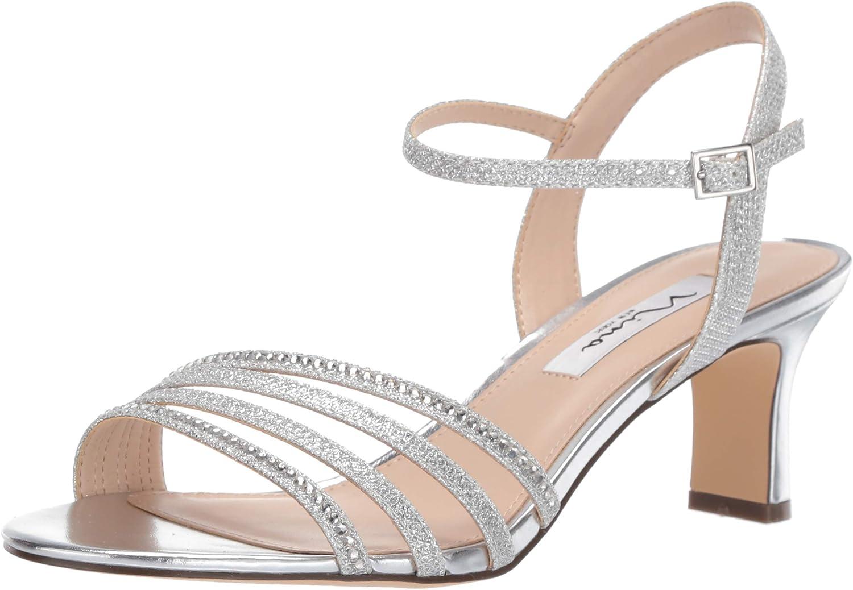 NINA FOOTWEAR Frauen Sandalen mit Absatz Silber Groesse 7.5 US US  38.5 EU  heißer Sport