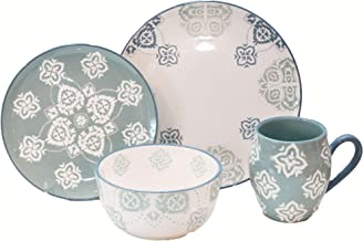 Baum Painterly 16-Piece Dinnerware Set in Turquoise