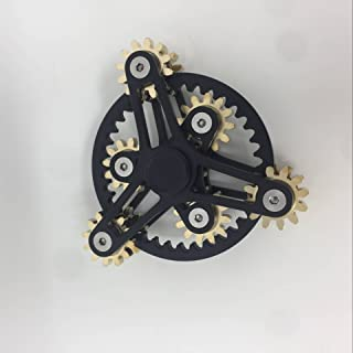COOLCT Big size Novelty Seven Linkage Gear Spinner Fidget Toy Double deck linkage Anxiety Relief Toy Gifts New