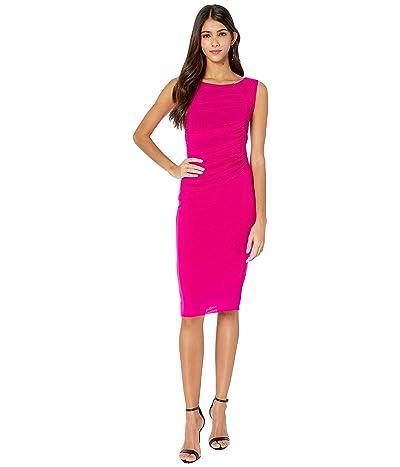FUZZI Sleeveless Knee Length Tulle Dress (Begonia) Women