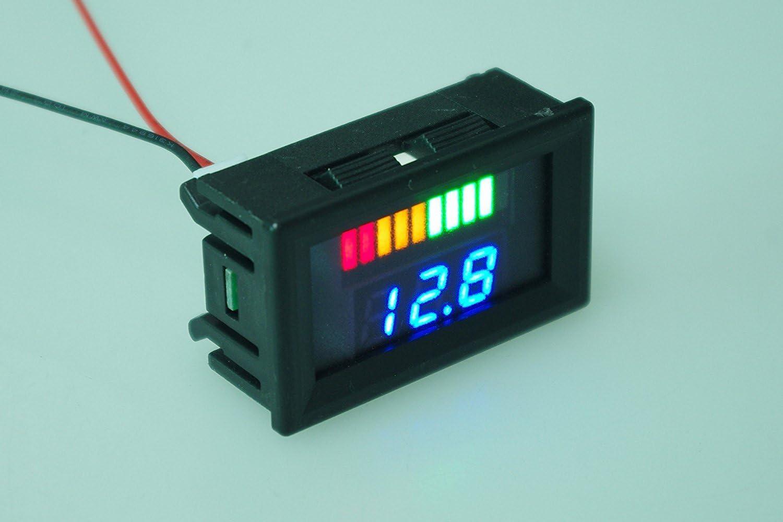 SMAKN Dual Display 6V Acid Lead Batteries Indicator Battery Capacity LED Tester