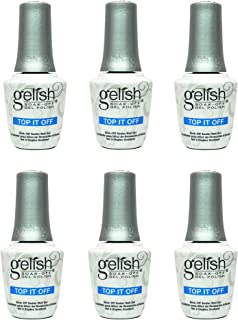 Gelish Harmony 0.5 Fluid Oz. Soak-Off Top-It-Off Sealer Gel Polish Coat (6 Pack)