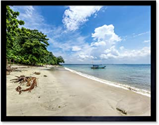 Crisco 1492 Karang Bolong strand tropisk Indonesien foto konsttryck inramad affisch väggdekor 30 x 40 cm