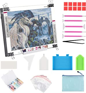 A3 LED Light Pad for Diamond Painting, ELICE LED Light Box Strudy Stepless Adjustable Brightness LED Light Board for Diamo...