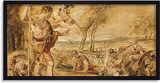 Peter Paul Rubens Cadmus Sådd Drakar Tänder Inramad Väggkonst Tryck Lång 60 x 30 cm