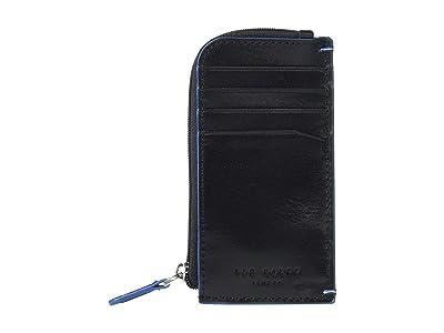 Ted Baker Chicar Contrast Stitch Cardholder (Black) Credit card Wallet