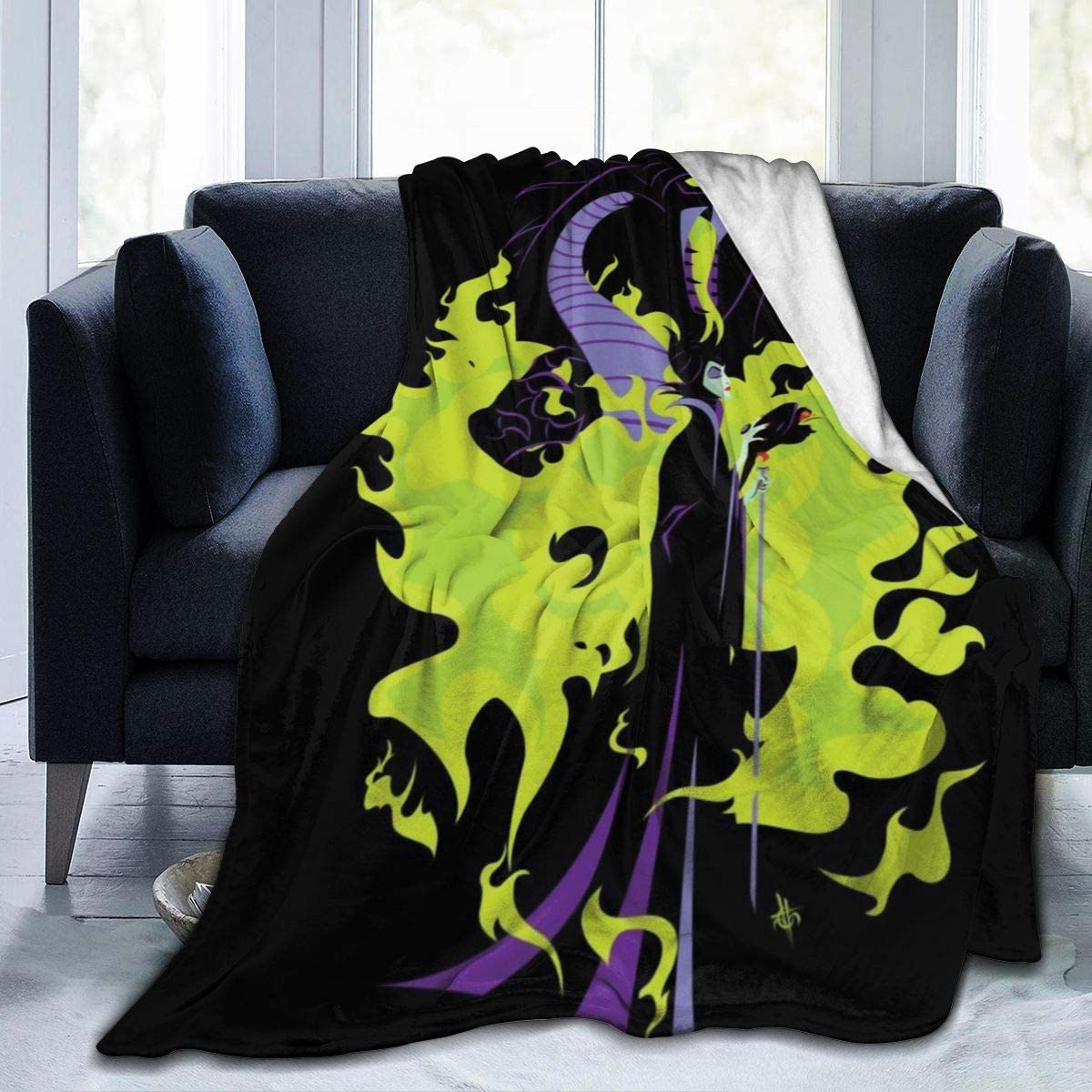 TECHSOURCE Male-ficent Mist-RESS of High quality Mic Ultra-Soft Sale Special Price Blanket Ev-il