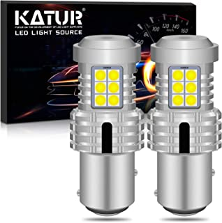 KATUR 1157 BAY15D P21/5W 1034 7528 LED Bulbs Super Bright 12pcs 3030 & 8pcs 3020 Chips Canbus Error Free Replace for Turn Signal Reverse Brake Tail Stop Parking RV Lights,Xenon White(Pack of 2)