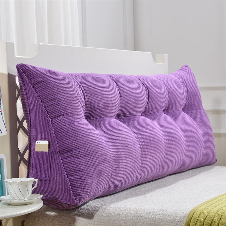TridiPour des hommesionnel triangle chevet oreiller coussin dossier soucravaten lombaire sofa oreiller confortable se détendre doux simple moderne (MODèLE    8, taille   longueur 135cm)