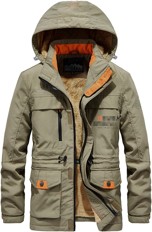 Tealun Winter Jacket Men Thick Wool Liner Warm Streetwear Army Parka Multi-Pocket Hooded Bomber Coats