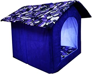 Pets Empire Foldable Printer Velvet Fabric Puppy House for Dog Lovers (Medium, Colour and Design May Vary)
