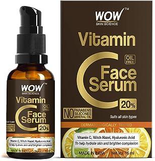 WOW Skin Science Vitamin C Serum - Skin Clearing Serum - Brightening, Anti-Aging Skin Repair, Supercharged Face Serum, Dar...