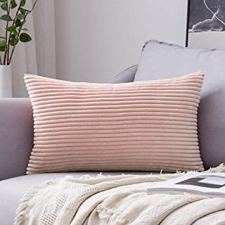 MIULEE Corduroy Soft Soild Decorative Square Throw Pillow Covers Cushion Cases Pillowcases for Couch Sofa Bedroom Car 12 x 20 Inch 30 x 50 cm