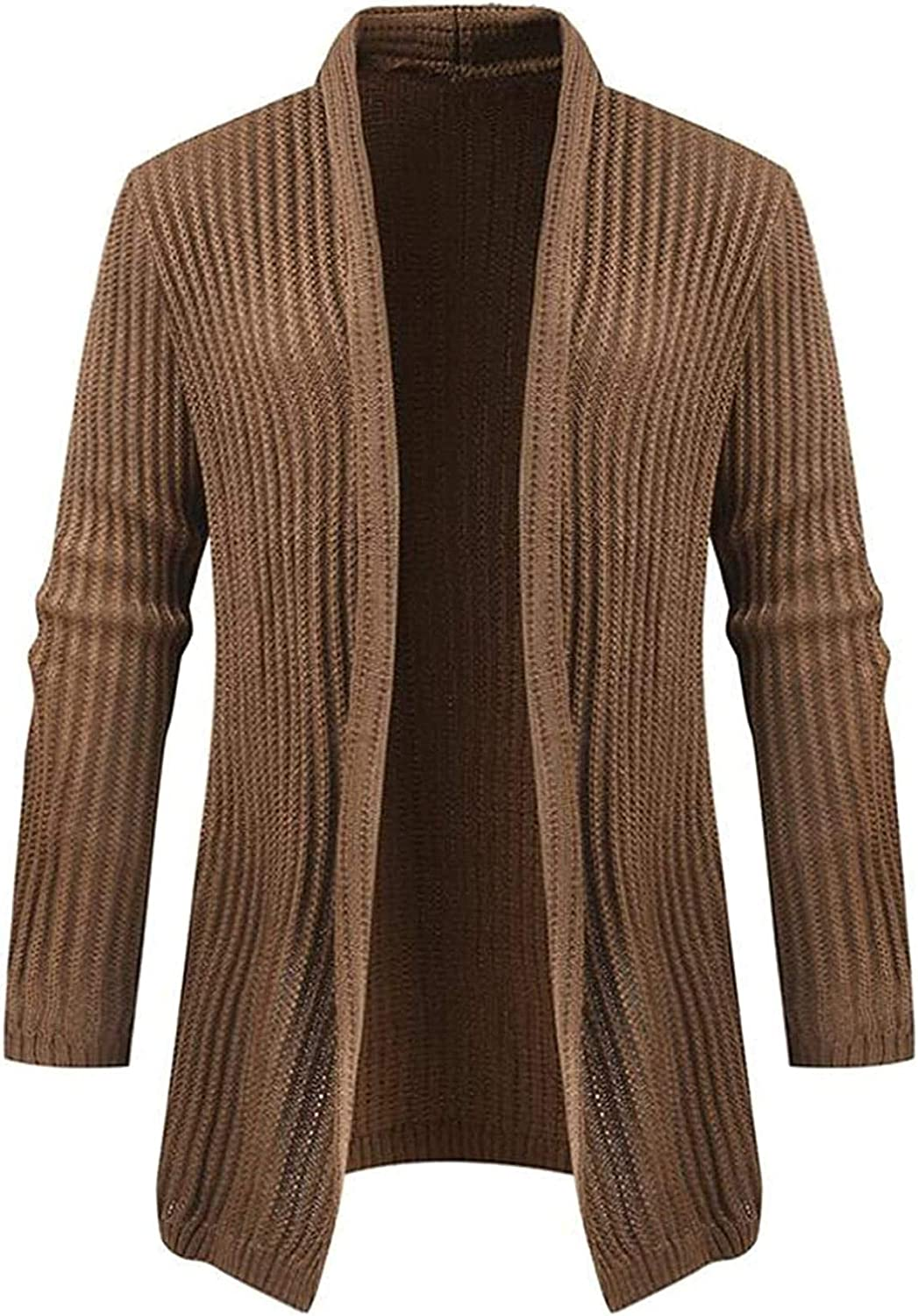 Cardigan Sweater Men Casual Knitted Long Sleeve Solid Color Slim Sweaters Youth Warm Men Cardigan
