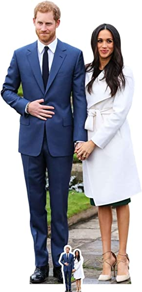 Prince Harry And Meghan Markle Life Size Cardboard Cutout Standup SC1115