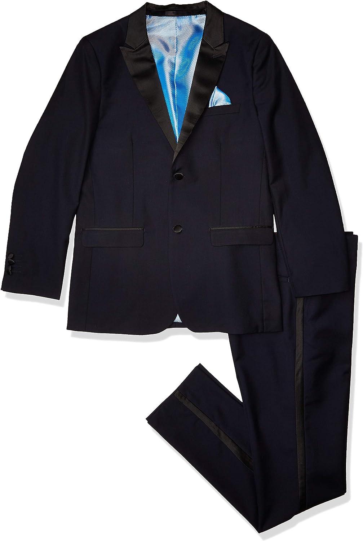 Isaac Mizrahi Boys' 2-Piece Contrast Peak Lapel Tuxedo