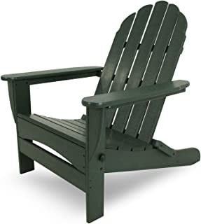 POLYWOOD AD7030GR Classic Oversized Curve Back Adirondack Chair, Green