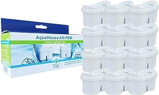 AquaHouse 12x AH-PBM Filtre à Eau Cartouches compatibles avec Brita Maxtra carafes filtrantes, Bi-Flux & Tassimo