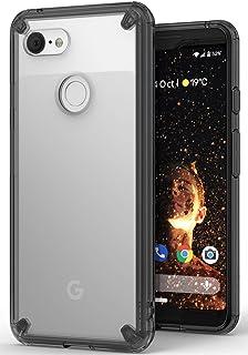 【Ringke】Google Pixel 3 ケース 対応 クリア 透明 落下防止 ストラップホール スマホケース [米軍MIL規格取得] TPU PC 二重構造 吸収耐衝撃カバー [Qi 充電 対応] Fusion (Smoke Black/黒煙)