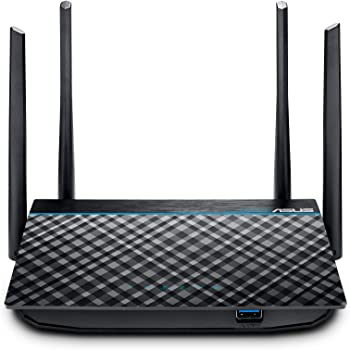 ASUS AC1300 WiFi Router (RT-ACRH13) - Dual Band Gigabit Wireless Router, 4 GB Ports, USB 3.0 Port, Gaming & Streaming, Easy Setup, Parental Control, MU-MIMO