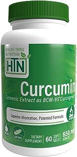 Curcumin as BCM-95� (CURCUGREEN�) 650mg Turmeric Complex (500mg Total Curcuminoids) Non-GMO Soy Free 60 softgels