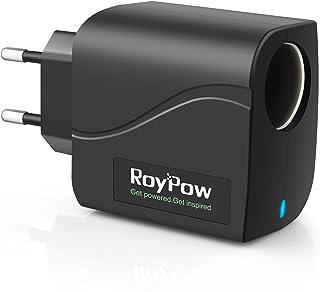 RoyPow KFZ Auto Power Supply Konverter Transformer 24W 12V2A AC zu DC Adapter 220V/240V zu 12V Auto Zigarettenanzünder Buchse