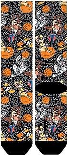 Looney Tunes Space Jam Tune Squad Sublimated Cement Print Crew Socks