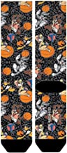 Looney Tunes Space Jam Tune Squad Sublimated Cement Print Crew Socks