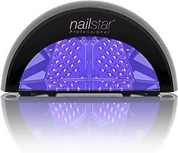 NailStar™ Lampe Sèche-Ongles à LED Professionnelle pour Laque, Shellac, Gel et Vernis de Manucure avec durées de 30 sec, 90 sec et 30 min (Noir)