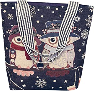 Shoulder Bag Handbags School Insert Laptop Beige For Women Girls Students Fashionable Canvas Cartoon, Bag Handles, FULLSUNNY