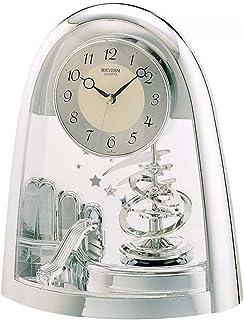 Rhythm 4Sg607Ws19 Contemporary Motion Table Clock - Silver