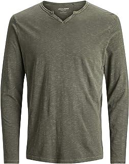 Jack /& Jones Jprbla Washed LS tee Crew Neck Ka Camiseta para Hombre