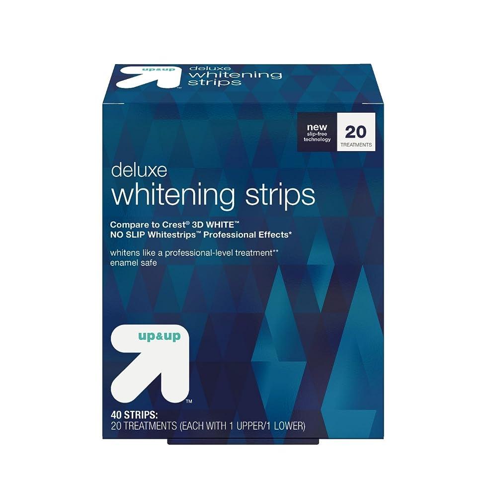 感嘆符魅惑的な光のデラックスホワイトニングストリップス 20日分 アップ&アップ Deluxe Whitening Strips -20 Day Treatment - up & up