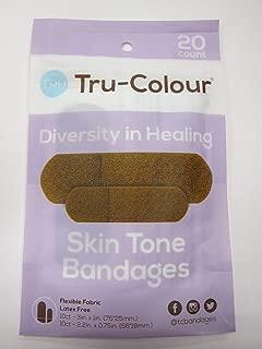 Tru-Colour Skin Tone Adhesive Fabric Bandages Match Your Skin Tone Purple, 20 Bandages