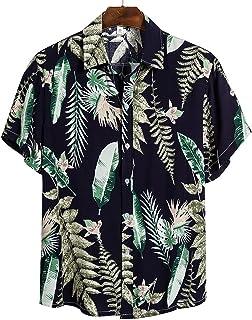 Outwears 2020 Hombres Camisas Hombres Hawaiano Camicias Casual Un Botón Salvaje Camisas Impreso De Manga Corta Blusas Tops