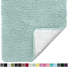 blue green bath rug