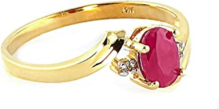 dc46af3618a46c 0.46 Carat 14k Solid Gold Ring with Natural Diamonds and Oval-Shaped Ruby