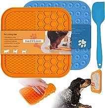 Lekmat voor honden, 2 stuks lick mat hond met spatel voor honden en katten, lick pad slow feeder met super sterke zuigkrac...
