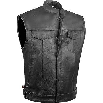Cow Hide Mens Classic Retro Black Real Leather Motorcycle Biker Jacket C800