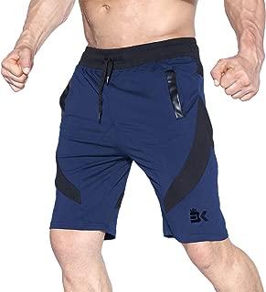 BROKIG Men's Gym Shorts,  Athletic Workout Running Mesh Shorts with Pockets