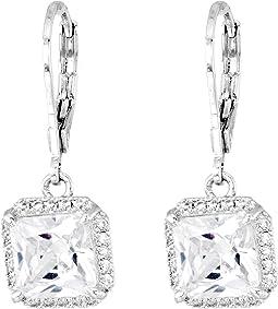 Kate Spade New York Save The Date Princess Cut Leverback Earrings