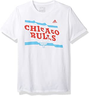 NBA Chicago Bulls Adult Men Flying Height S/Go-To Tee, X-Large, White