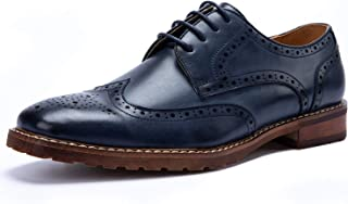 BESTON Men's Wingtip Lace Up Oxfords