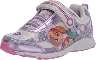 PAW Patrol Girls Pink glitter Canvas Pump Infant Trainers Shoes soft close